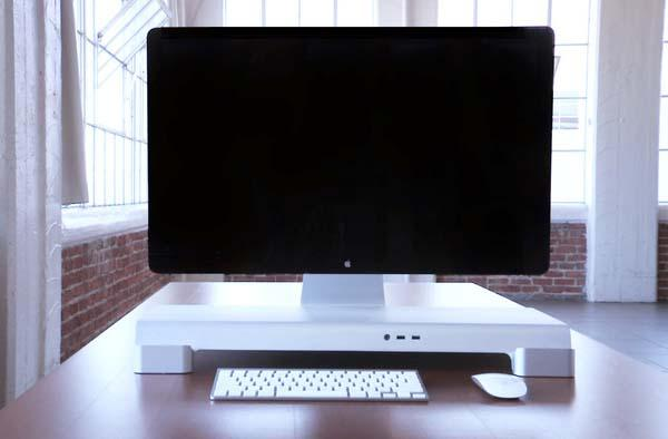 iForte UNITI Stand Desk Organizer for iMac and Apple Display