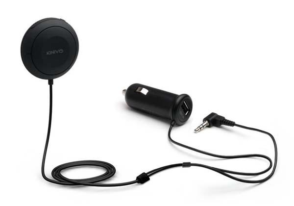 Kinivo Bluetooth Handsfree Car Kit with Audio Receiver and Charger