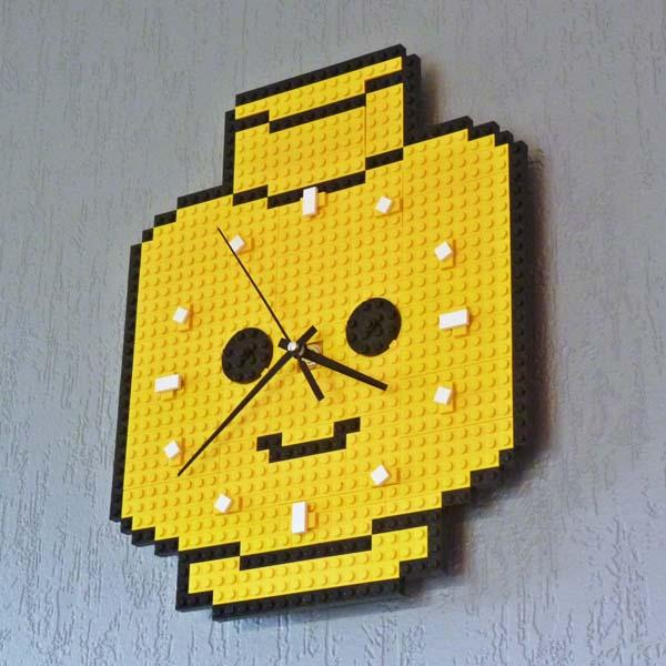 LEGO Minifigure Head Shaped Wall Clock