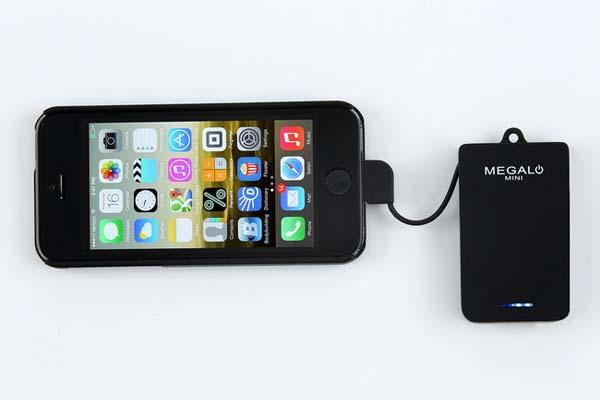 Megalo Mini Ultra Portable Charger with 1400mAh Backup Battery