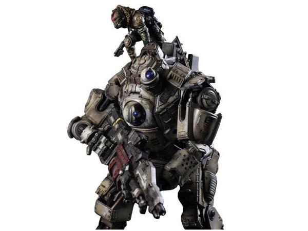 Play Arts Kai Titanfall Atlas Action Figure with Pilot