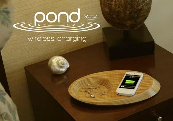 Pond Wireless Charging Tray and Stream Charging iPhone 5s Case