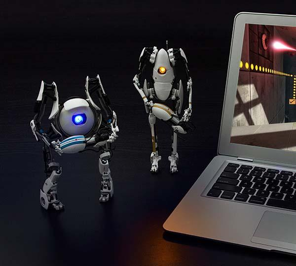 Portal 2 Atlas and P-Body Action Figures
