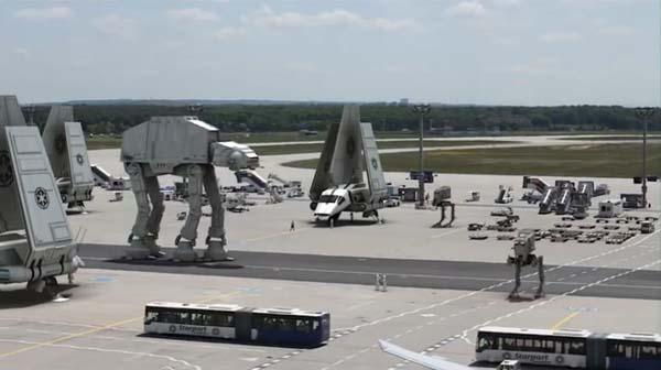 Star Wars Imperial Fleet Stationed Real World Airport