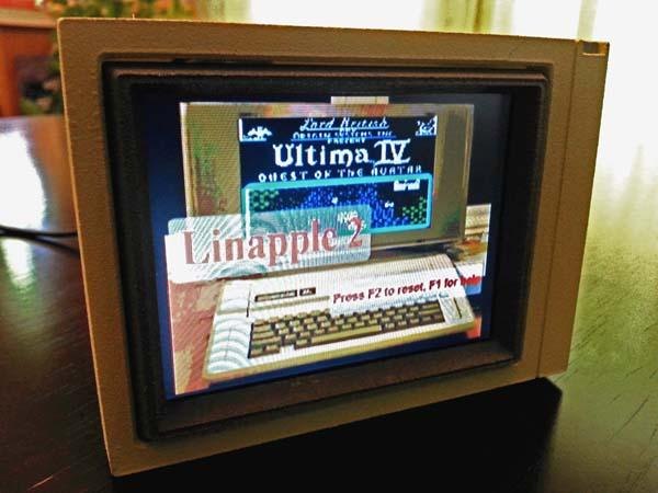 The Handmade Miniature Apple Monitor II with Working LCD Display