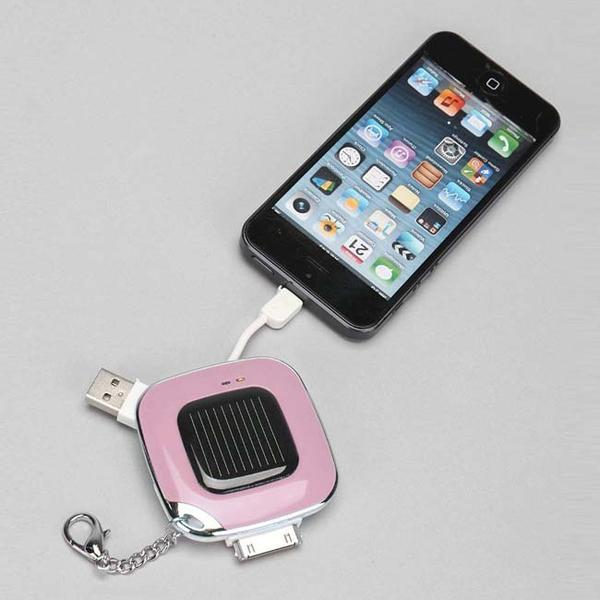 The Solar Power Bank Keychain for iPhone