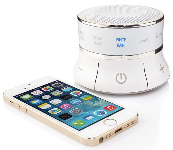 Tranquil Moments Bedside Bluetooth Speaker with Sleep Sounds and Alarm Clock