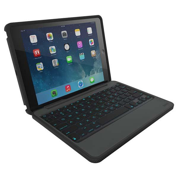ZAGG Rugged Folio Keyboard Case for iPad Air and iPad Mini
