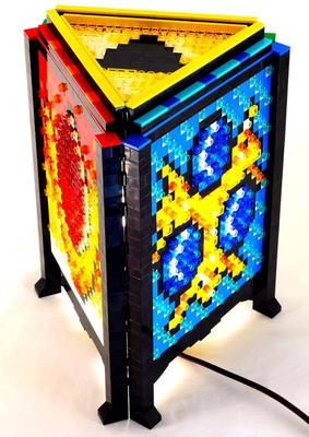 The Legend Of Zelda Inspired Lamp Built With Lego Bricks