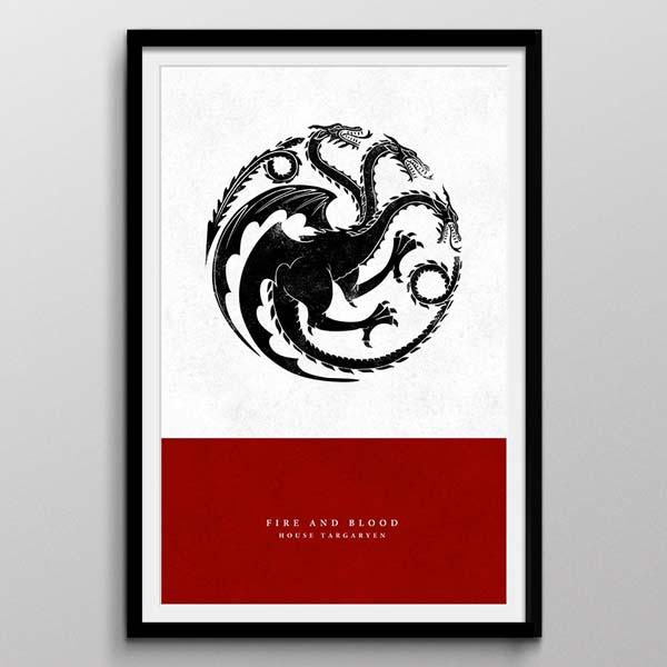 Game of Thrones Sigil Art Prints