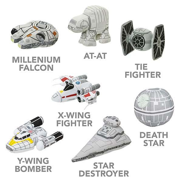 Pretty Cute SD Star Wars Plush Vehicles