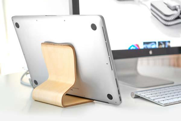 The Desktop Chair v2 Wood Tablet Stand