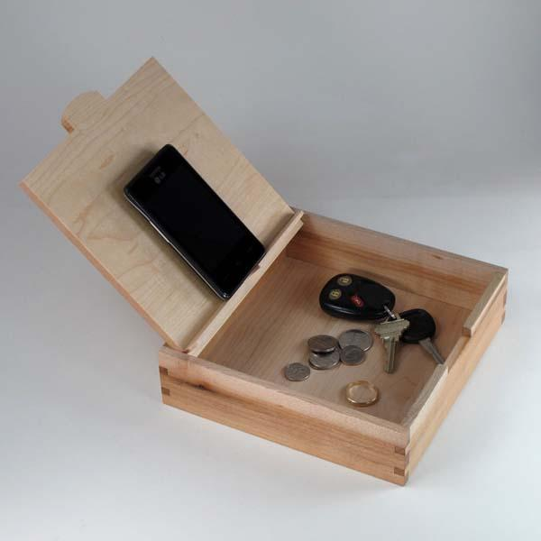 The Handmade Wooden Storage Box with Charging Station