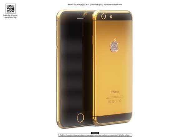 The Luxurious iPhone 6 Design Concept in Gold