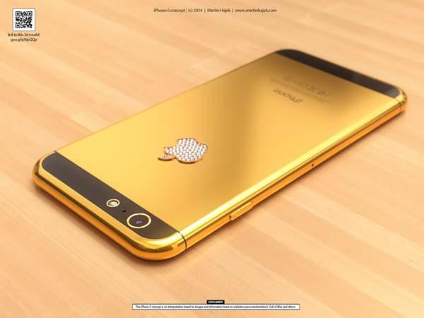 The Luxurious iPhone 6 Design Concept in Gold | Gadgetsin