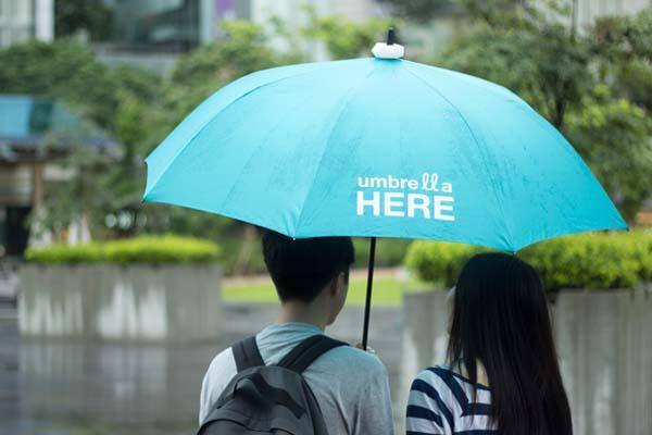 Umbrella Here A Smart Light for Your Umbrella