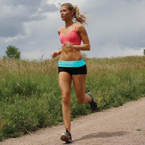 FlipBelt Workout and Running Belt with Four Pockets