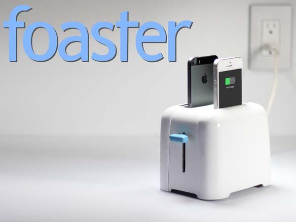 Foaster A Toaster Inspired Charging Station for iPhone, iPad and Android Devices