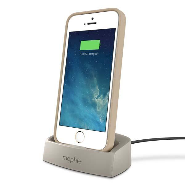 mophie desktop dock charging station for iphone 5 5s 5c. Black Bedroom Furniture Sets. Home Design Ideas