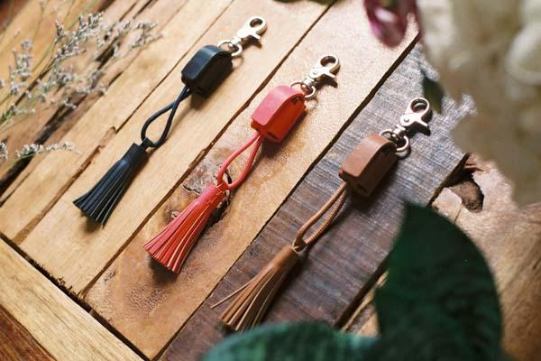 Native Nation Power Link Tassel Keychain with Charging Cable