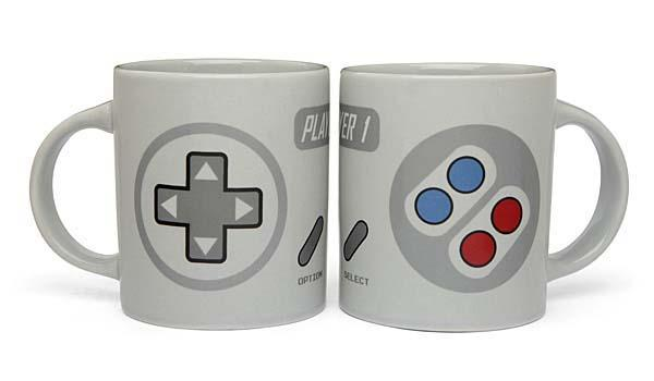 SNES Controller Inspired 2-Player Gaming Mug Set