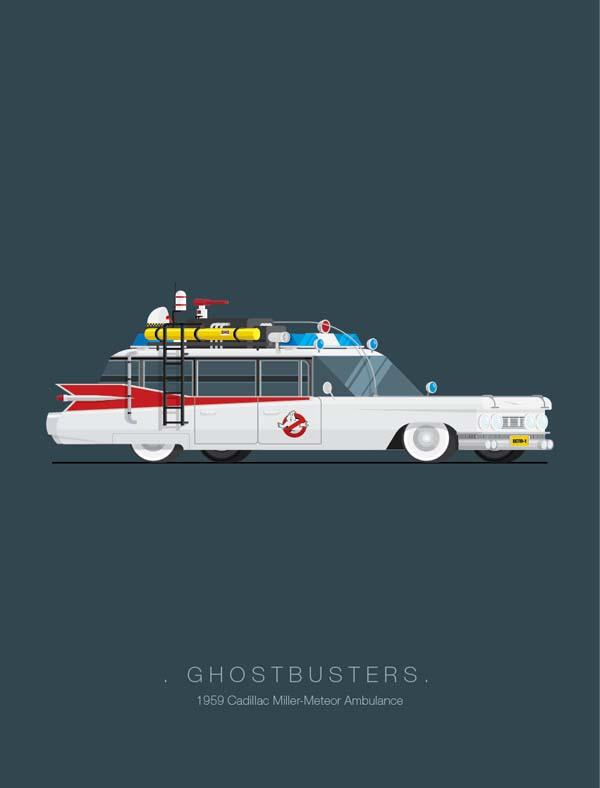 The Art Prints Show The Cars From Famous Movies Gadgetsin