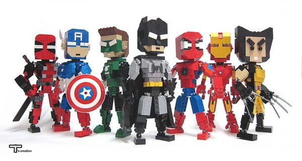 The Awesome LEGO Superhero Action Figures