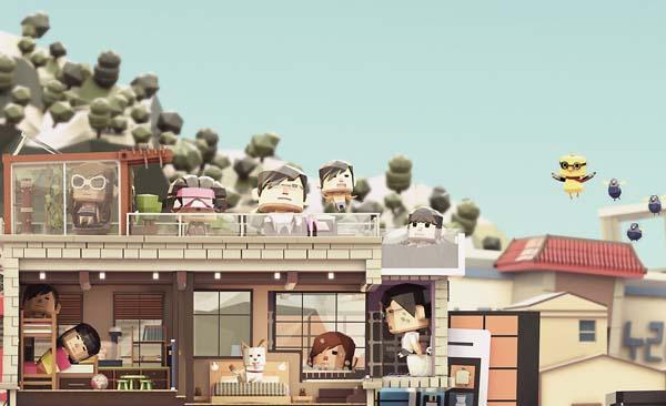 The Awesome Papercraft Styled Illustration Shows The City Life in Seoul