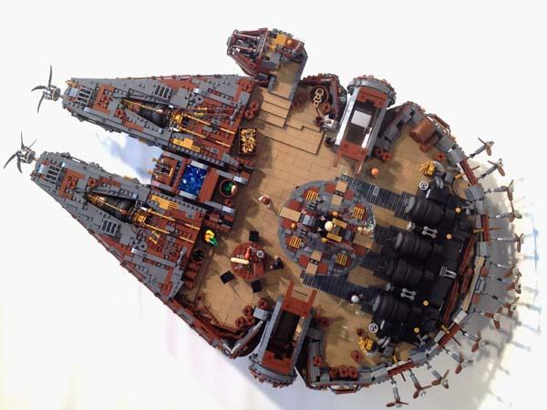 The Awesome Steampunk Star Wars Starships and Vehicles Built with LEGO Bricks