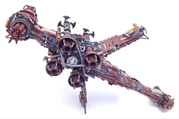 The Awesome Steampunk Star Wars Starships and Vehicles Built with LEGO Bricks | Gadgetsin