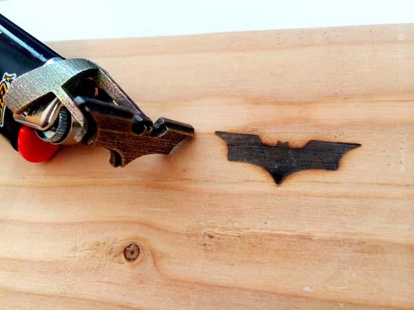 The Lighter with Batman Branding Iron