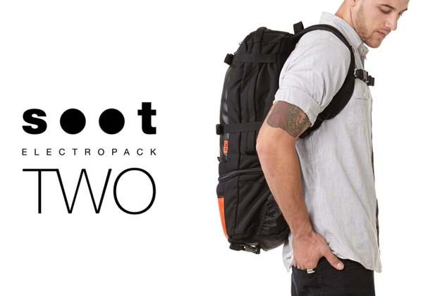 The SOOT Electropack 2 Consists of Commuter Backpack and Mini Messenger Bag