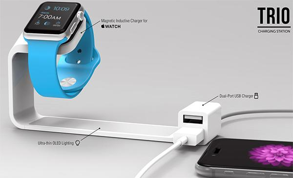 Trio Apple Watch Charging Station