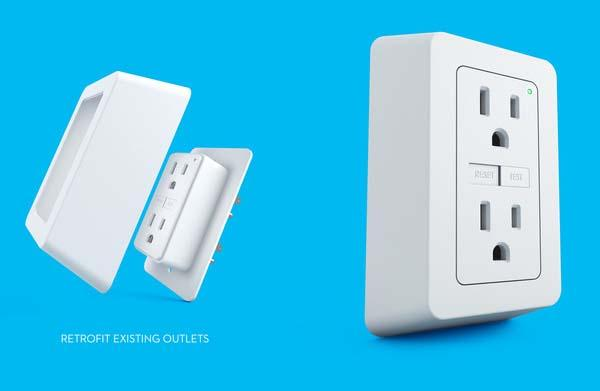 Breaker Wall Socket Turns Any Outlet into GFCI Outlet