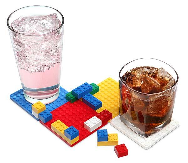 Building Brick Drink Coaster Set