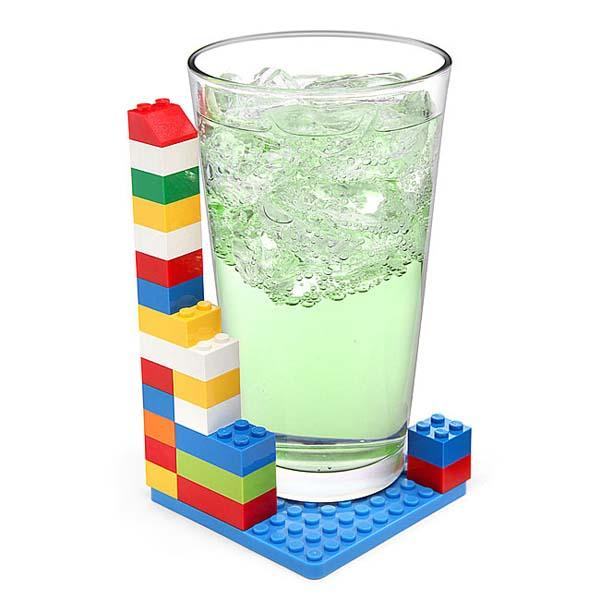 Building Brick Drink Coaster Set Gadgetsin