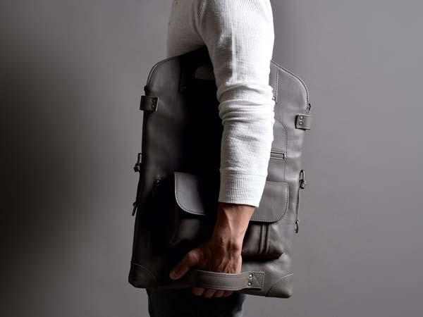 Hard Graft 2Unfold Leather Laptop Bag