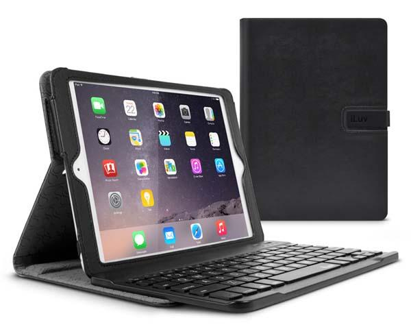 iLuv Professional WorkStation iPad Air 2 Case with Detachable Bluetooth Keyboard