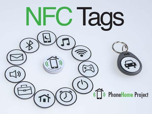 nfc tag stickers automatically activate your smartphone functions gadgetsin. Black Bedroom Furniture Sets. Home Design Ideas