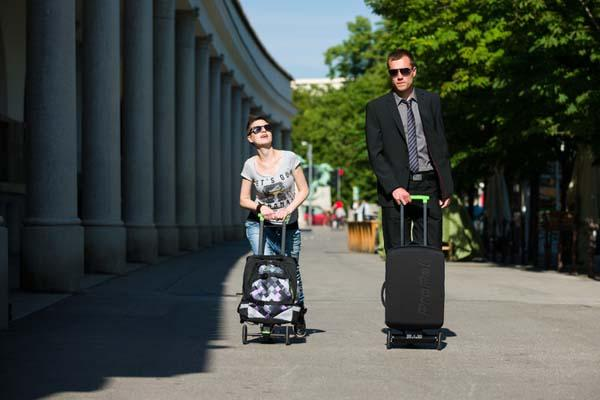 OLAF Kick Scooter with Integrated Suitcase or Removable Backpack
