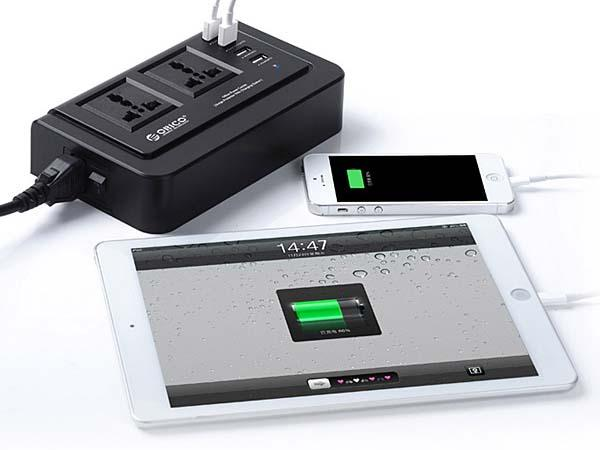 Orico 4-Port USB Charger with Two Outlets