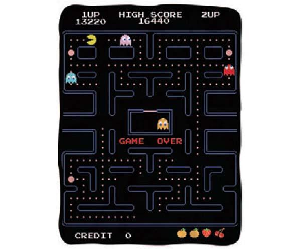 Pac-Man Game Over Screen Fleece Throw Blanket