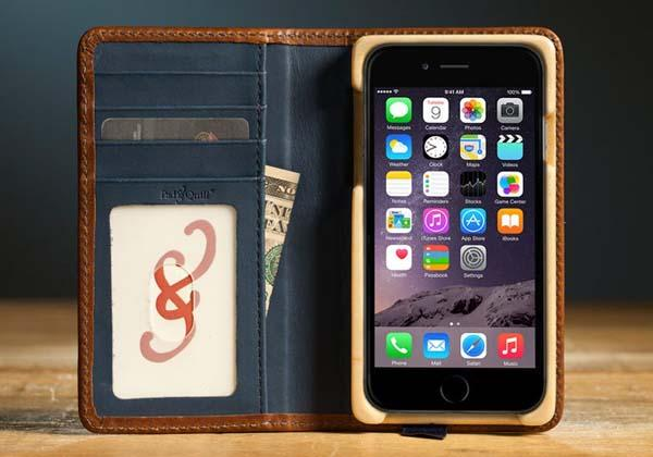 Pad&Quill Luxury Pocket Book iPhone 6 Leather Case