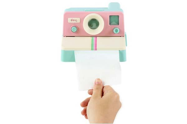 Polaroll Color Instant Camera Inspired Toilet Paper Holder