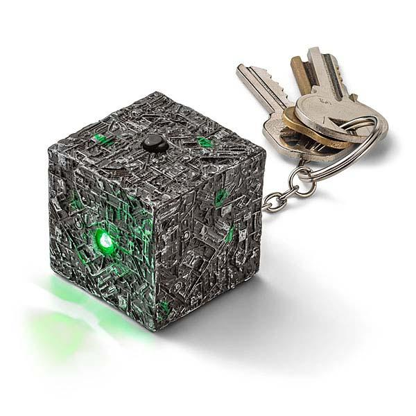 Star Trek Borg Cube Shaped Keychain Flashlight