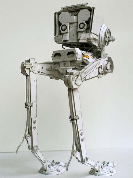 Star Wars AT-ST Paper Craft | Gadgetsin