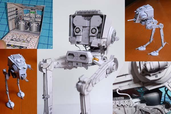Star Wars AT-ST Paper Craft