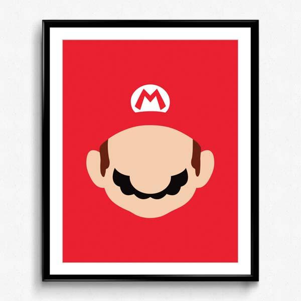 Super Mario and Luigi Minimalistic Poster Set