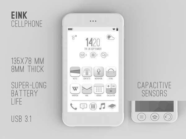 The Affordable E-ink Smartphone Design Concept
