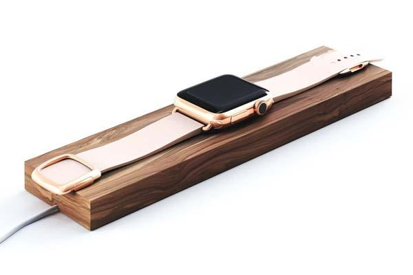 The Composure Wooden Charging Station for Apple Watch